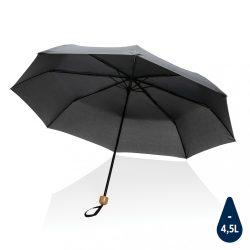 """20.5"""" Impact AWARE™ RPET 190T Pongee bamboo mini umbrella, b"""