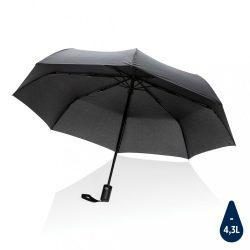 "21"" Impact AWARE™ RPET 190T auto open/close umbrella, black"